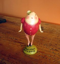 Primitive Folk Art Egg Girl Valentine for a Special by mamagourds