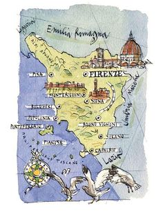 Michele Tranquillini - Map of Tuscany