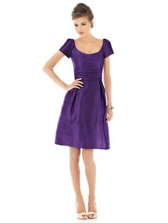Alfred Sung Style D526  #purple #bridesmaid #dress
