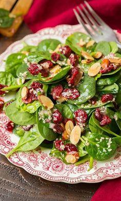 Cranberry Almond Spinach Salad.   healthy salads     healthy salads clean eating     healthy salads recipes   #healthysalads #healthysaladscleaneating #healthysaladsrecipes https://www.tigermedical.com