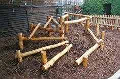 Natural play climbing frame