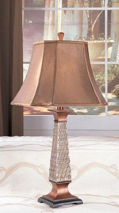 Set Of 2 Table Lamps In Bronze And Silver Finish By Poundex, 55