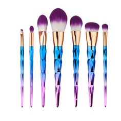 7pcs/lot Pro Nylon Wool Face Makeup Brush Set Foundation Powder Facial Eyeshadow Eyeliner Blending Cosmetic Beauty Make Up Tools