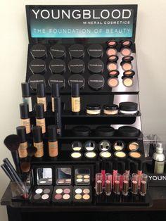 Our Youngblood Mineral Makeup display.. The Facial & Brow Bar www.facebook.com/thefacialandbrowbar