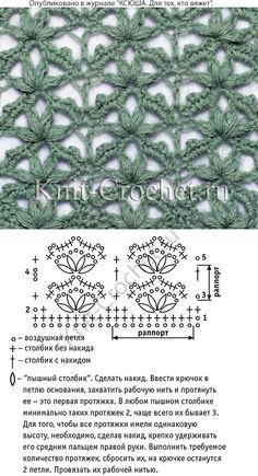Esquema y símbolos para crochet un patrón calado.