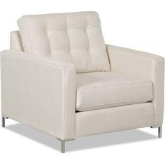 Wayfair Custom Upholstery Harper Armchair with Metal Legs Upholstery: Shack Cocoa