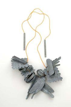 Lucy Sarneel - Love Power, necklace, 2010, zinc, antique Venetian glass beads - 45 x 35 x 45 mm