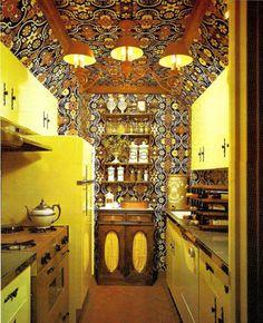 boho styled kitchen