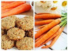 Acești biscuiți cu morcov și ovăz nu conțin făină de grâu rafinată, nici zahăr, de aceea pot fi consumați și de cei care au probleme cu intoleranța la gluten, cu greutatea corporală sau suferă de diabet. Aluatul este îndulcit în mod natural cu sirop de arțar. Am specificat în lista ingredientelor că acesta poate fi înlocuit cu pastă de curmale – găsiți rețeta în acest articol. Raw Vegan Recipes, Cooking Recipes, Healthy Recipes, Nutritional Yeast Recipes, Healthy Sweets, Cooking With Kids, Kids Nutrition, Food And Drink, Yummy Food
