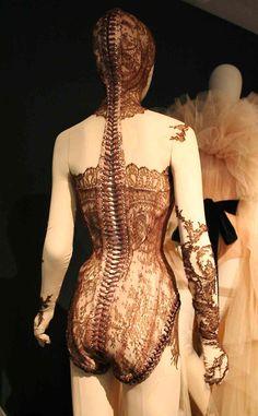 Hooded corset - John Paul Gaultier Exhibition, London
