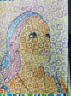 Self-Portrait Inspired by Chuck Close: much easier colored pencil ...