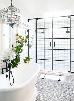 One to tuck in the dream house folder--the ideal bathroom that comes with two shower heads!