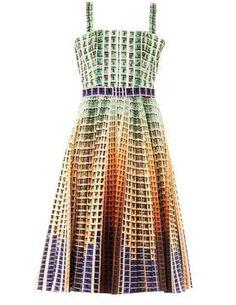ShopStyle.co.uk: MARY KATRANTZOU Suddenly apartment-block print dress £1,238.00