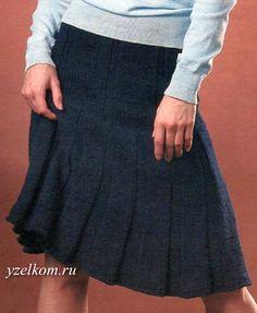 юбки вязаные спицами фото
