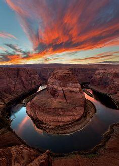 One of my favorite places---Sunset at Horseshoe Bend - Arizona