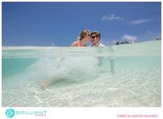Kimber and Adam tie the knot and trash the dress in Turks and Caicos with Brilliant Studios