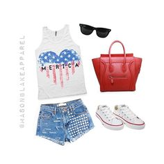 4th of July Outfit Inspiration ❤️ Are you loving our new tank as much as I am?  They will be available in tees & tanks for kids & adults! Pre ordering will begin soon! #masonblakeapparel #flatlay #kidsfashion #babyfashion #momswag #merica #ootd #fourthofjuly #comingsoon