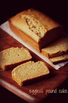 eggless pound cake recipe with step by step photos. again an easy recipe of a eggless pound cake made with whole wheat flour. pound cakes are so good, that you can just serve them plain.