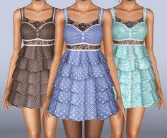 My Sims 3 Blog: Eternal Love - Mini Dress With Ruffles by Lunararc
