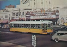 Key Route streetcar on Grand Avenue passing the Grand Lake Theater, Oakland (1947) Courtesy of the Oakland History Room, Oakland Public Library