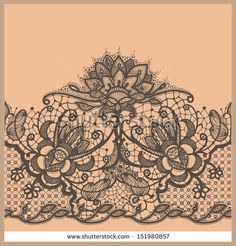Abstract Lace Ribbon Seamless Pattern Template frame design for card Lace Doily Can be used for packaging, invitations, and template