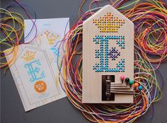 """DIY Kit for Kids """"Embroidery on wood with SCOUBIDOU"""""""