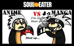 Soul Eater Anime vs. Manga : Soul by nobodygoddammit on deviantART