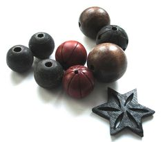 wood bead mix by allthatglittersbeads on Etsy, $3.00