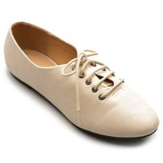 c11dc2098 Ollio Womens Oxfords Ballet Flats Loafers Lace Ups Low Heels Beige Shoes  Ollio,http: