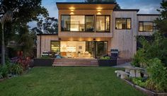 Cool house exterior with cedar cladding