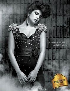Priyanka Chopra's Blender's Pride Print Ads Pictures