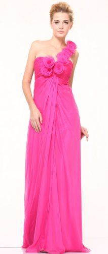 #10530 Rosettes One Shoulder Chiffon Pageant « Dress Adds Everyday
