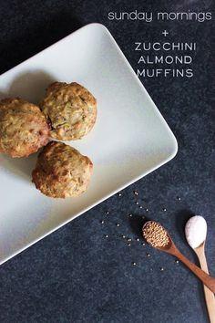 Zucchini almond muffins