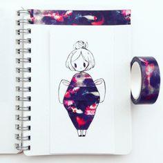 birduyen: washi tape: fish series