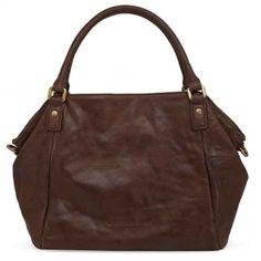 Liebeskind Metallic Suede Amanda Ladies Bag Brown 5001382002