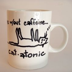 Cat Lover Funny Cocoa Coffee Mug by PaintsyKate on Etsy, $10.50