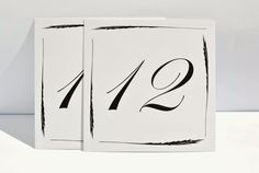 Wedding Table Numbers I Printed feather by FunkyBoxStudio on Etsy, $1.40
