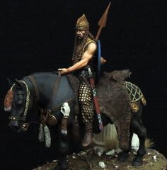 Mounted Celtic Warrior - Scale Model Figure - 1/24 | Military Miniatures H.Q. | Scoop.it