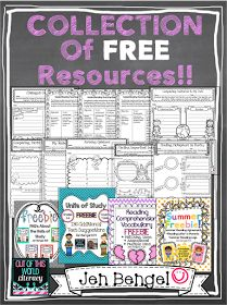 Collection of Free Language Arts Resources. A Collection of over 20 FREE reading, writing, language, and spelling resources for grades Reading Resources, Reading Strategies, Reading Activities, Reading Skills, Teacher Resources, Reading Comprehension Grade 2, Reading Centers, Reading Groups, Literacy Centers