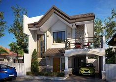 Bungalow House Plans, Bungalow House Design, Small House Design, Dream House Plans, Cool House Designs, Dream Houses, Philippines House Design, Filipino House, Philippine Houses