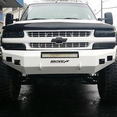 Front & rear replacement bumpers at an affordable price, MOVE's heavy duty truck bumpers are easy to weld and available for your truck make, model and year. Lifted Chevy Tahoe, 2005 Chevy Silverado, Lifted Chevy Trucks, Chevrolet Tahoe, Ford Trucks, Pickup Trucks, Dually Trucks, Silverado 1500, Custom Truck Bumpers