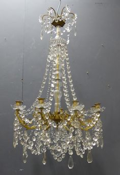 Large 19th Century Antique French Chandelier from www.jasperjacks.com....FOR THE MINI CHANDELIERS
