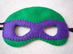 Felt Ninja Turtle Mask by littlestfeltshop on Etsy