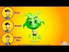 Germs Movie for Kids  - Virus & Bacteria Introduction