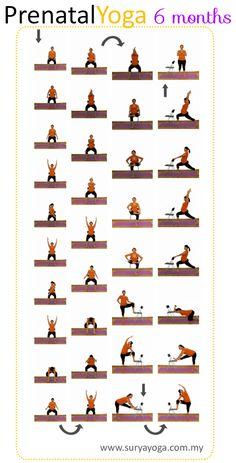My Surya Yoga Baby: Prenatal Yoga Practice - 6 Months Prenatal Yoga Poses, Prenatal Workout, Pregnancy Workout, Pregnancy Goals, Pregnancy Info, Pregnancy Humor, Pregnancy Outfits, Kundalini Yoga, Tantric Yoga