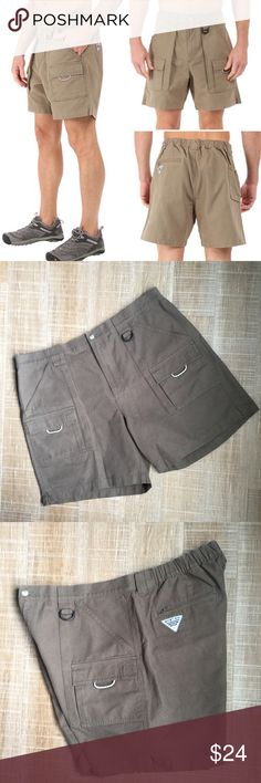 """COLUMBIA PFG Brewha Cargo Fishing Shorts Sz XL Columbia PFG Brewha Cargo Fishing Shorts, Sz XL. Great condition, like new! Please see last photo for product details. Reviewers rated this as true to size. Smoke free home. No trades, please. 👉waist flat: 20"""", inseam: about 7.5"""" 🌟Visit my closet for more Athletic & Outdoor wear! Columbia Shorts Cargo"""