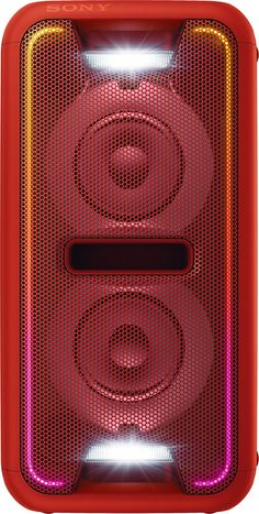 Sony - High Power Home Audio System Dual Wireless Speaker (Each) - Red, Party Speakers, Cool Bluetooth Speakers, Oneplus Wallpapers, Studio Background Images, Cabinet Door Styles, Metal Screen, Boombox, Loudspeaker, Aesthetic Iphone Wallpaper
