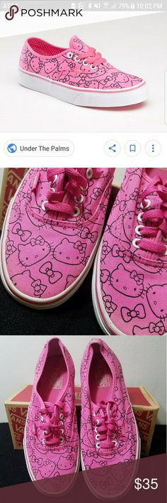 pink and black Hello Kitty Vans Men's 8  women's 9.5  wore a couple times  open to offers make a bundle and I'll send you a private discount with my lowest price  no trades on this item Vans Shoes Sneakers