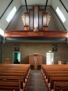 Interior of Gereformeerde Gemeente (Reformed Congregations) Berkenwoude. 270 Seats