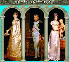Joséphine, Napoleon, Marie-Louise  et  Napoléon-François-Charles-Joseph